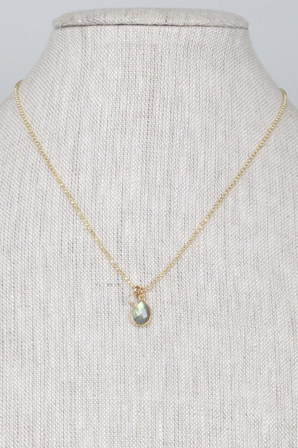 Mickey Lynn ML8434GL Bezel Set Labradorite Teardrop Nk