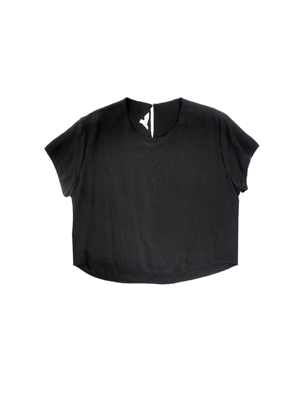 Ali Golden Black Cap Sleeve Top