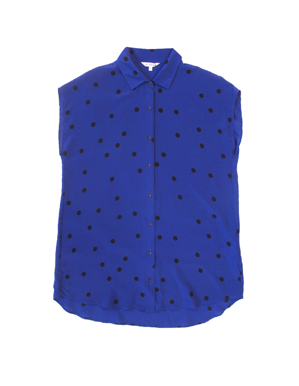 ALI GOLDEN BLACK-DOT COLLARED TUNIC