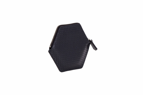 Nº32 Hexa Wallet Honeycomb in Black