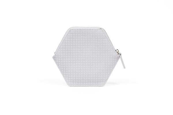 Nº32 Hexa Wallet Honeycomb in Light Gray