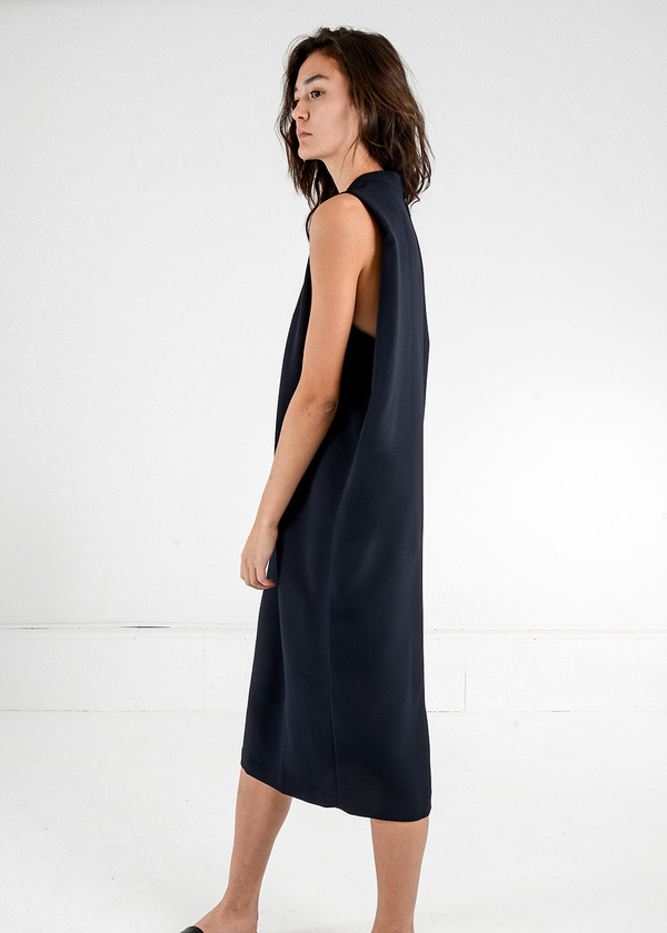Kaarem Dill High Collar Dress