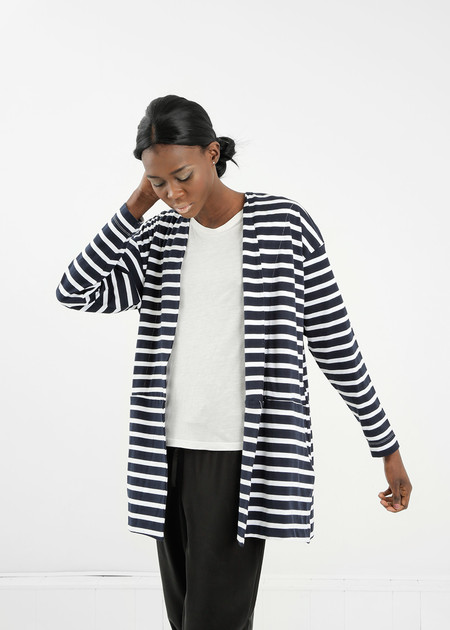 Kowtow Striped Nova Cardigan