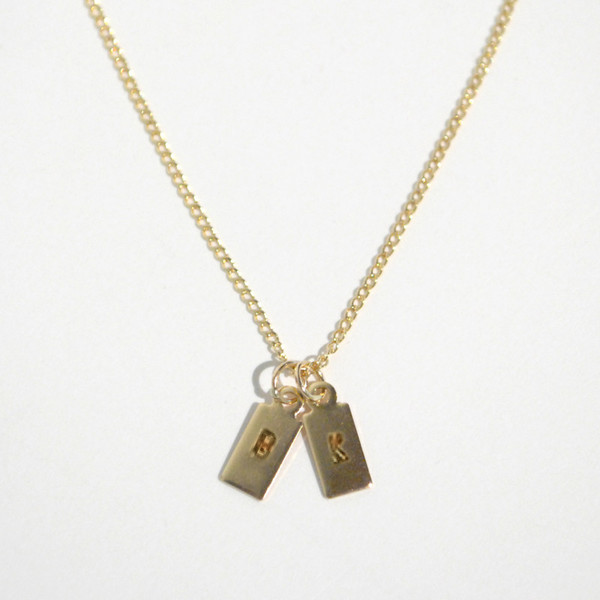 Gem & Blue - Initial Necklace