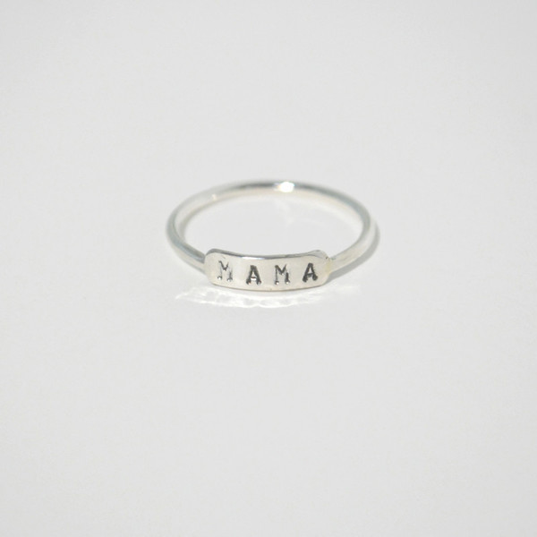 Mama Ring - Yellow Gold, Rose Gold or Silver