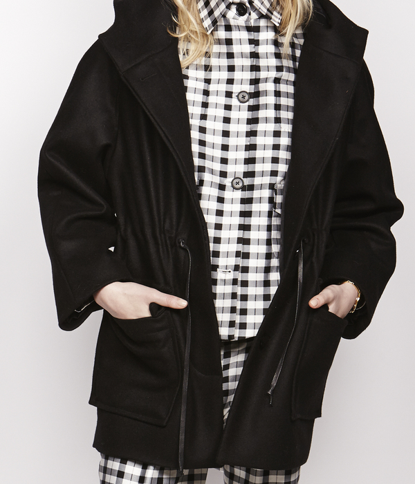 Nikki Chasin Wool Anorak Hooded Coat