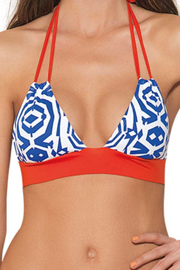 Estivo Two Piece Red White and Blue TOP