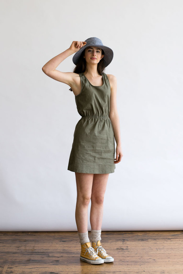 Bridge & Burn Fleer Olive Linen