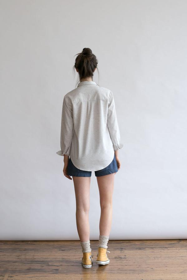 Bridge & Burn Lane White Speckle Shirt
