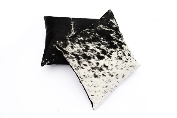 Primecut Salt + Pepper Cowhide Pillow