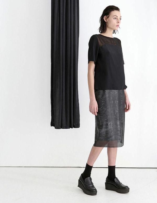Silvae Beckley Grid Skirt