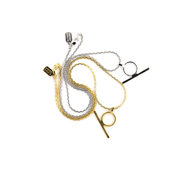 Alynne Lavigne Circle Bar Necklace