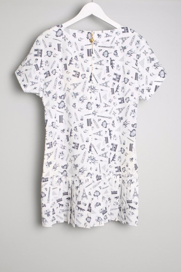 MAISON KITSUNE Map Pleated Dress