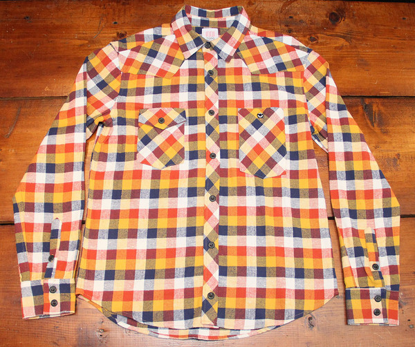 Men's Topo Designs Work Shirt - Orange Plaid Flannel