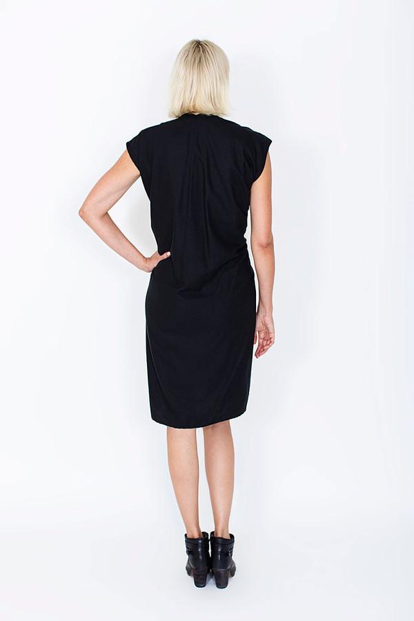 Miranda Bennett Black Tempest Dress, Silk Noil