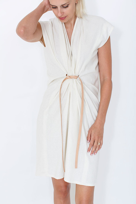 Miranda Bennett Natural Tempest Dress, Silk Noil