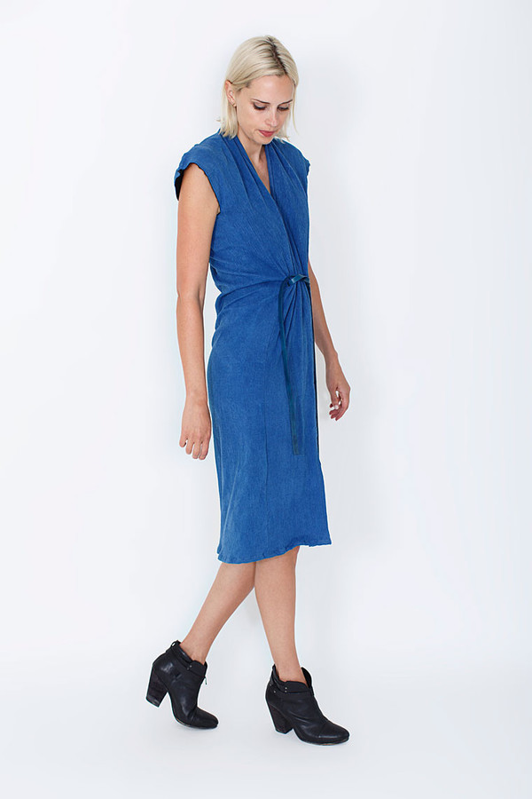 Miranda Bennett Indigo Vision Dress, Double Gauze