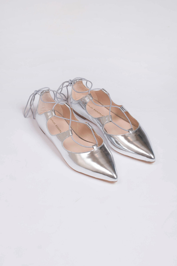 Loeffler Randall Ambra Mirror Leather Flat