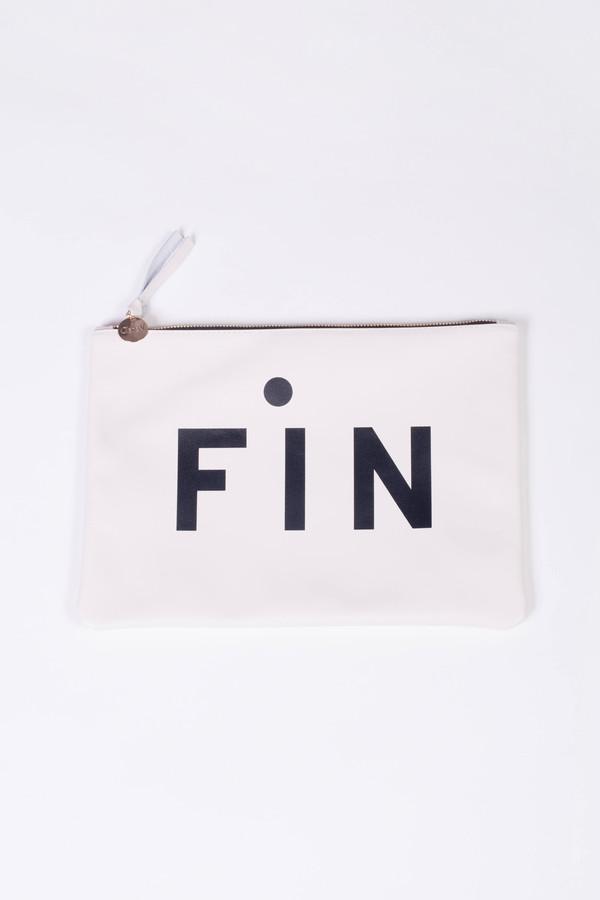 Clare V. Fin Flat Clutch