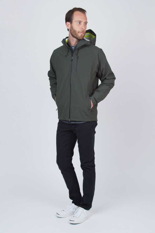 Men's Ecoalf Kilamanjaro Sealed Windbreaker Dark Khaki