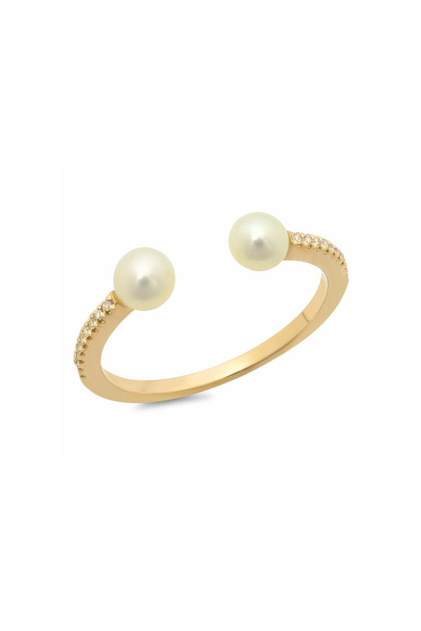 Sachi Jewelry Pearl Ring Cuff