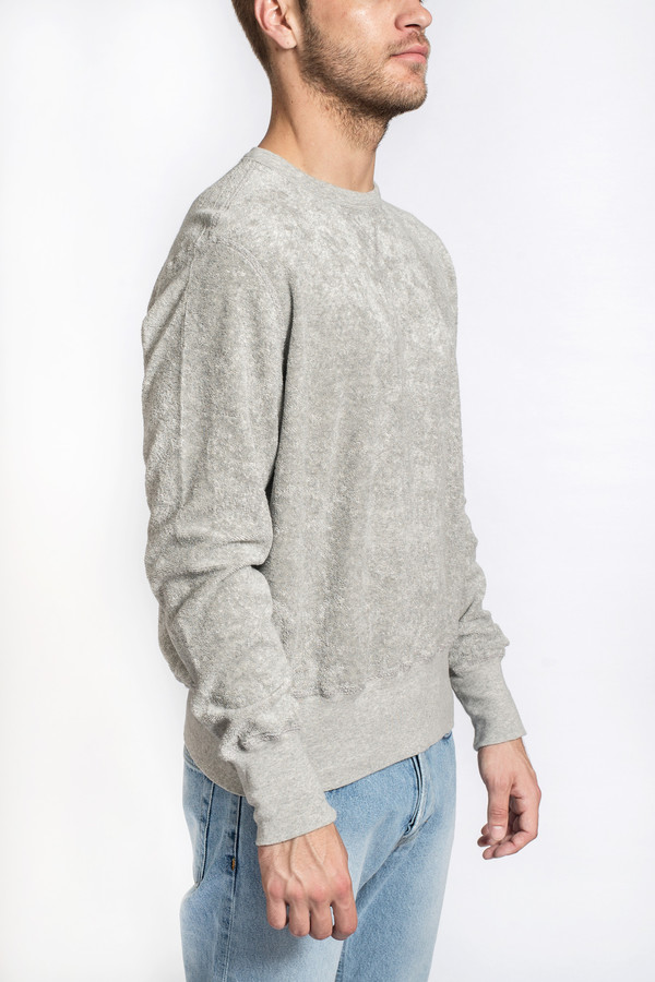 Men's Our Legacy Reversible Sweat Grey Melange Terry