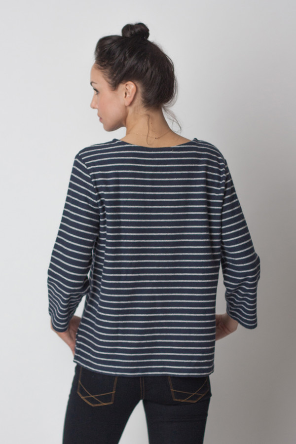 YMC Stripe Pocket Crew