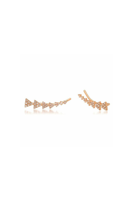 Sachi Jewelry Triangle Train Ear Crawlers