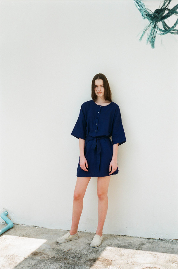 Seeker Studios Two-way Button Dress