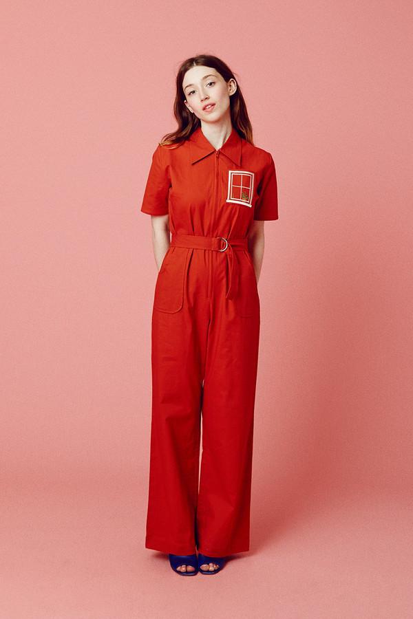 Samantha Pleet House Jumpsuit - Red