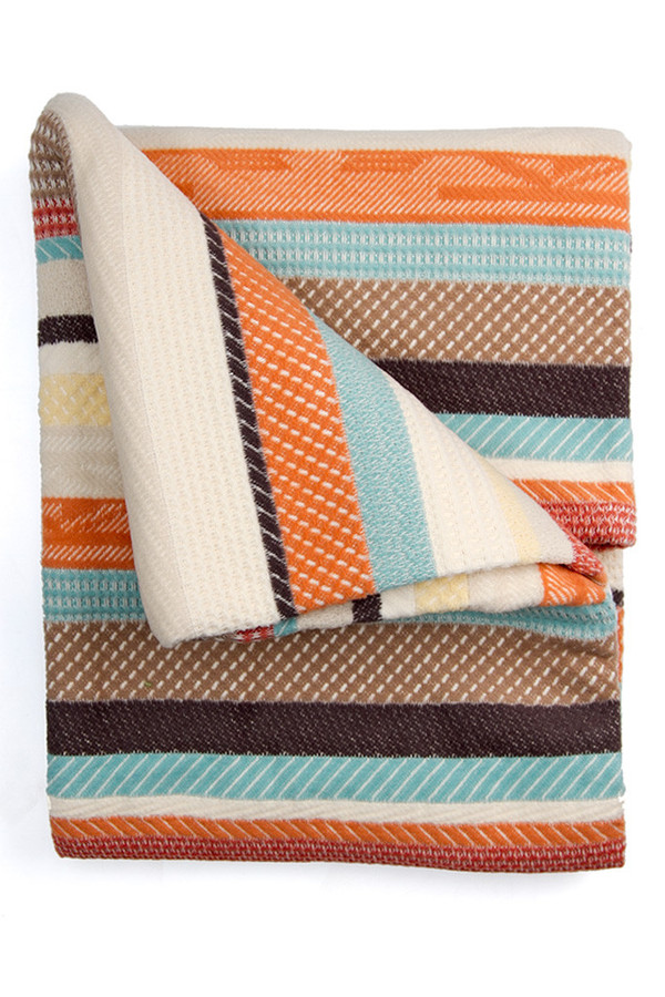 Pendleton Chimayo Jacquard Throw Coral