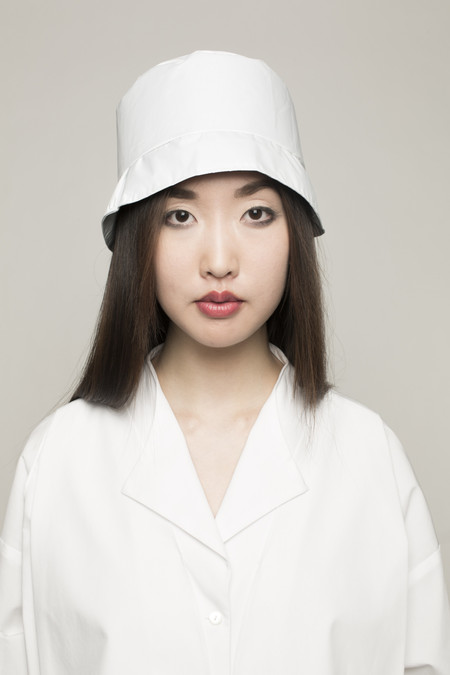 Maryme-Jimmypaul Hair Bucket Hat in White