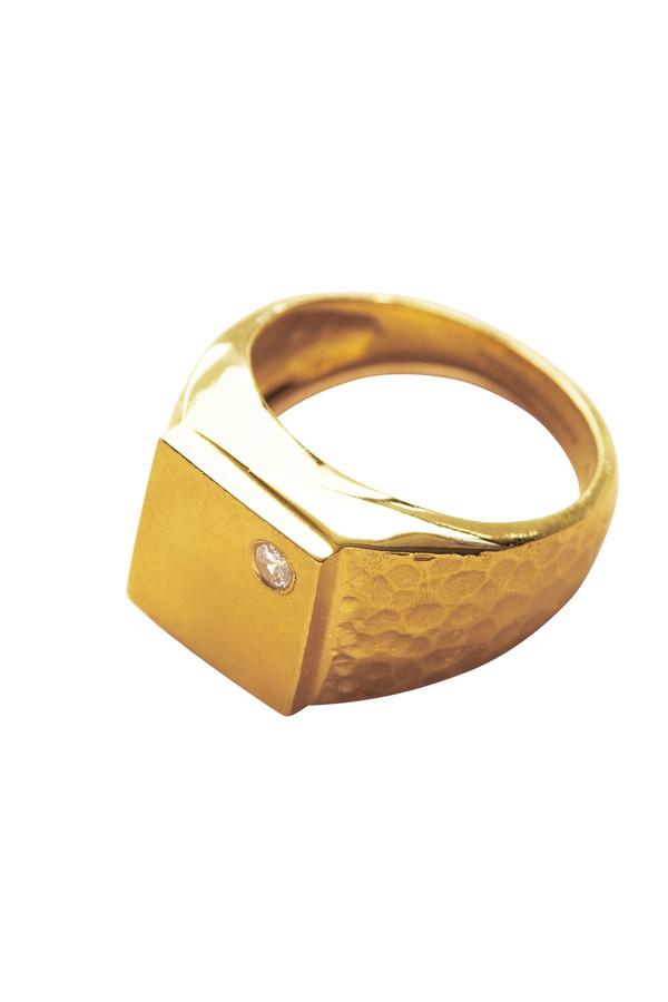 REBEKKA REBEKKA The Squared Ring in 18K Gold