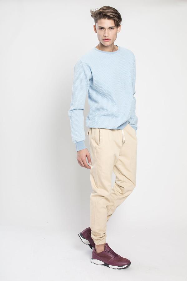 Men's SOULLAND Warners Sweatshirt in Medium Blue