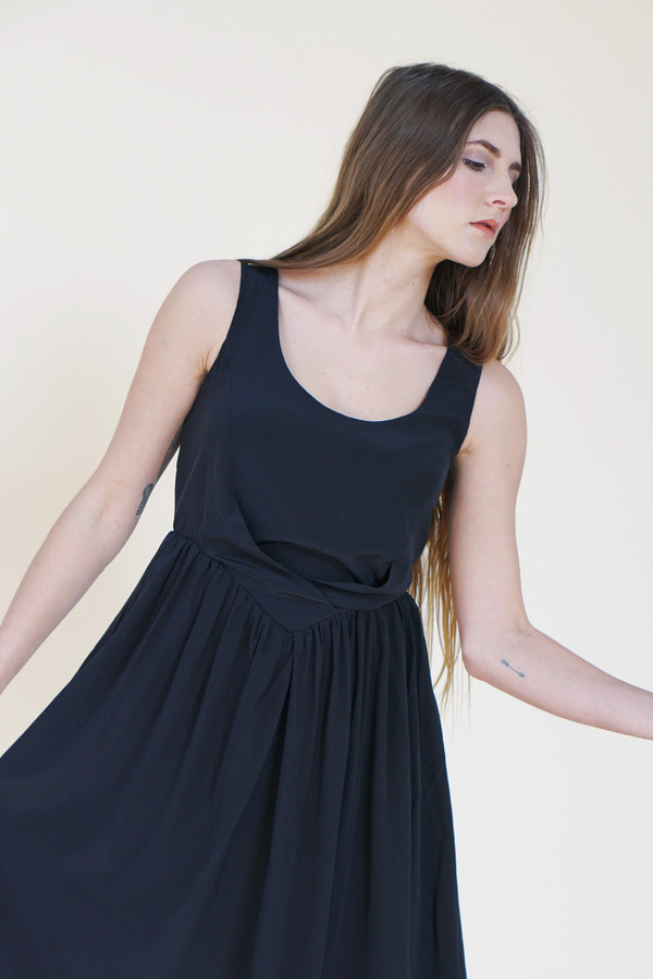 Samantha Pleet Degas Dress - Black