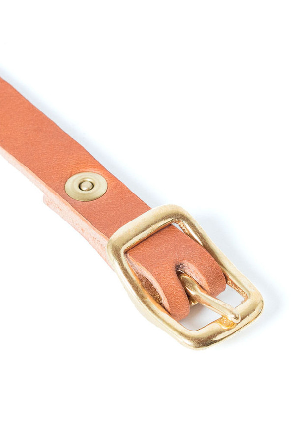 Wood & Faulk Matchstick Belt Tan