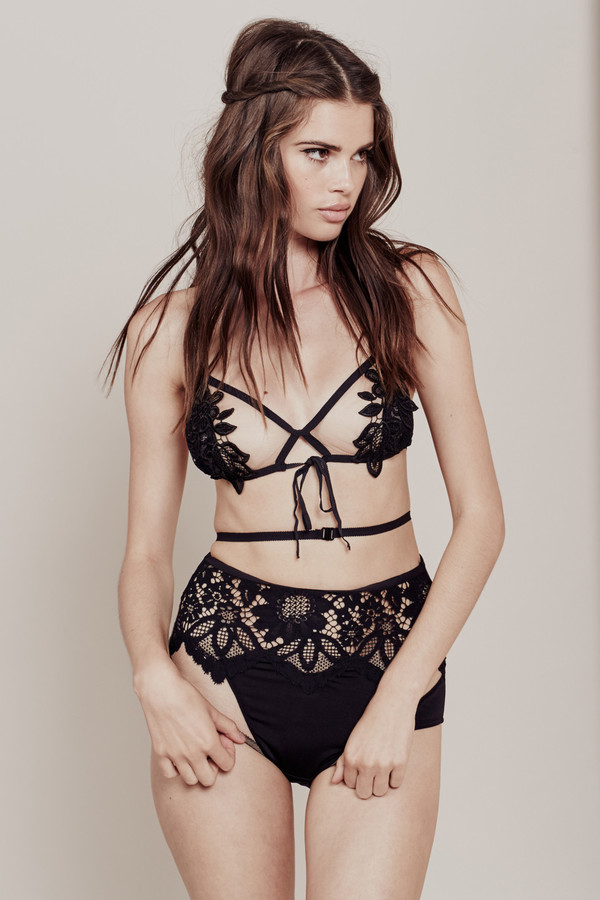 For Love and Lemons LUCIA LACE BRALETTE