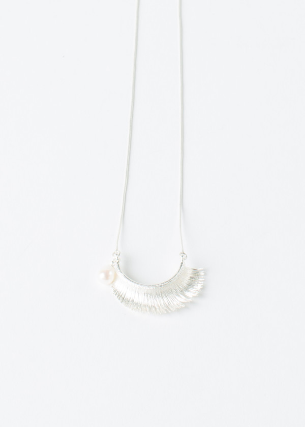 Mirit Weinstock Eyelash and Pearl Necklace