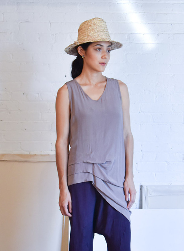 Seek Collective Swoon Tank, solid dove