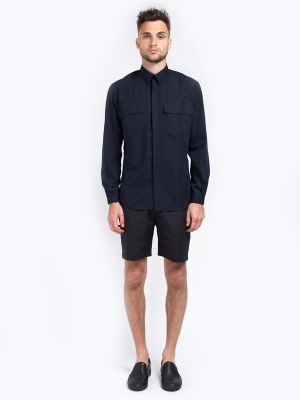 Carlos Campos Uniform Woven Shirt Navy