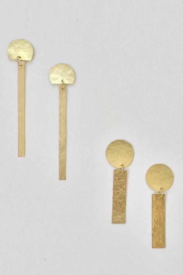 modern weaving full circle stem earrings