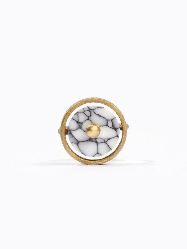 Metalepsis Projects Disc Ring White