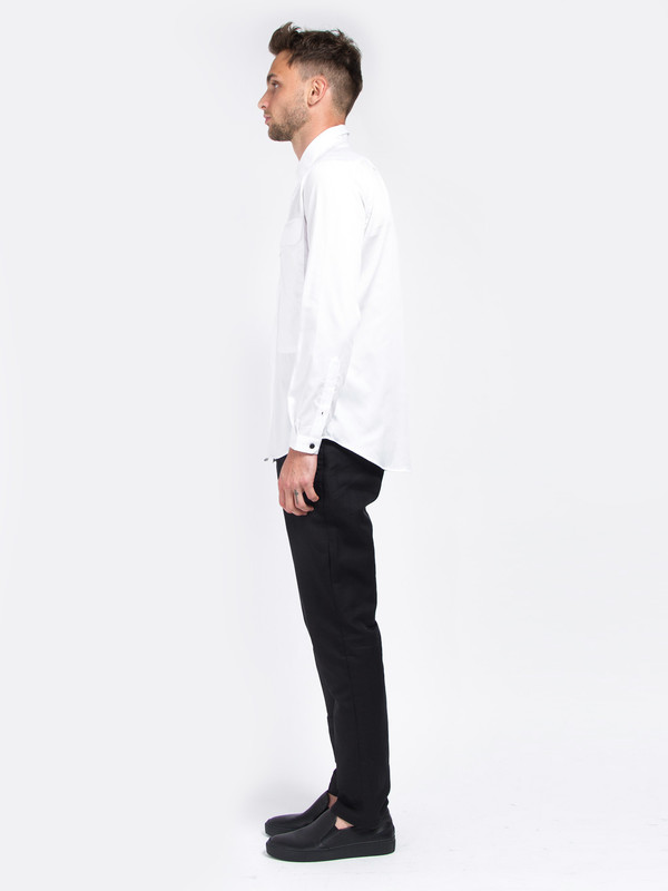 Men's Carlos Campos Uniform Woven Shirt White