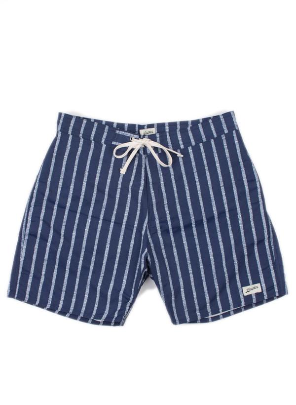 Men's Bather Blue Stripe Surf Trunk