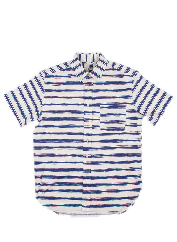 Men's The Hill-Side SS Standard Shirt Endo Stripes Print, Natural