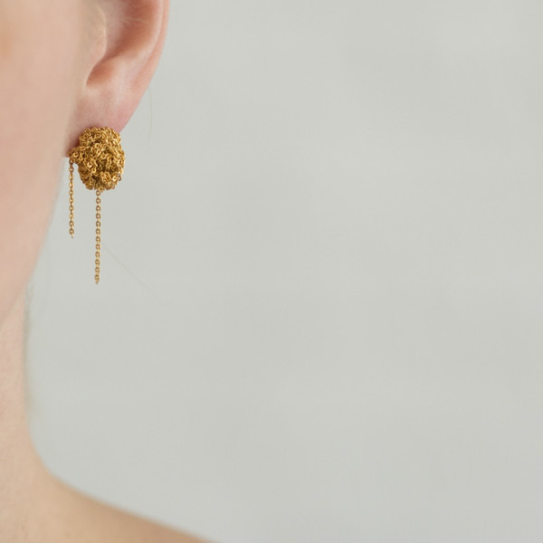 Arielle De Pinto Bead Earrings Gold - SOLD OUT