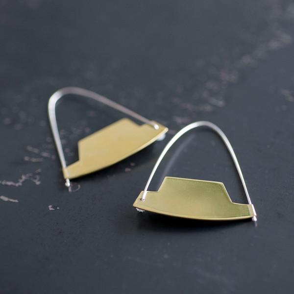 Erin Considine Arch Hoop Earring Brass