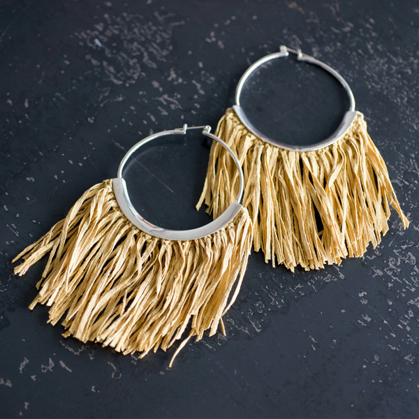 Erin Considine Fringe Ridge Hoop Earrings