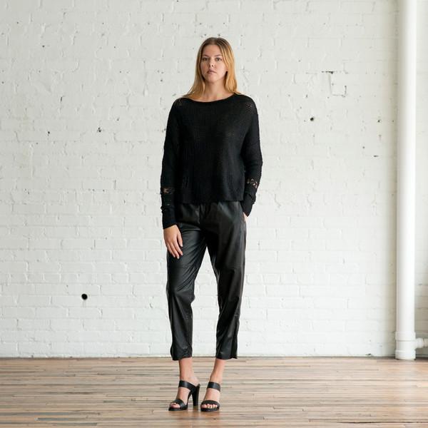 Gary Graham Long Sleeve Lacy Sweater
