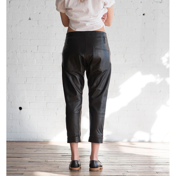 Hope Work Leather Trouser